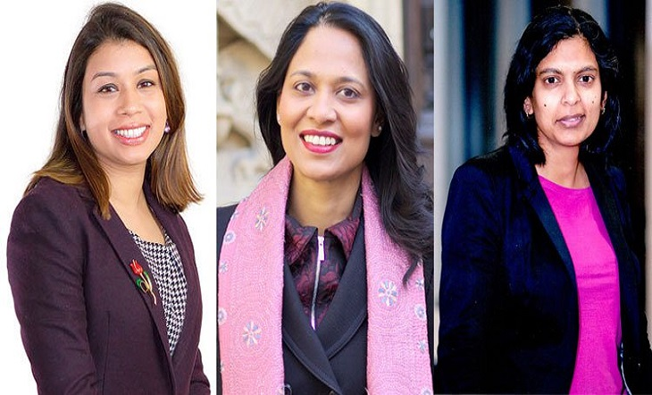 Tulip Siddique, Rupa Haque and Rushanara Ali, who won the British elections again