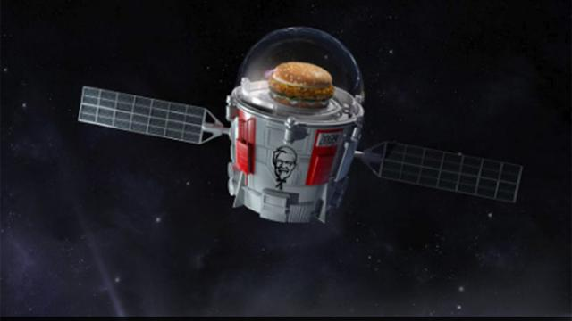KFC sandwich going to space!